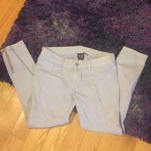 USED Armani Exchange pale blue jeans, sz 8 short
